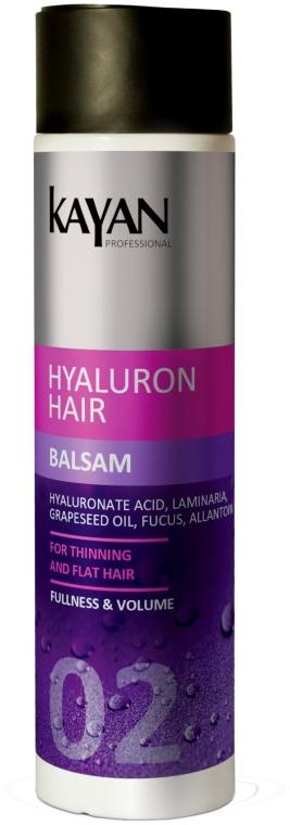 Balsam do włosów cienkich i pozbawionych objętości - Kayan Professional Hyaluron Hair Balsam