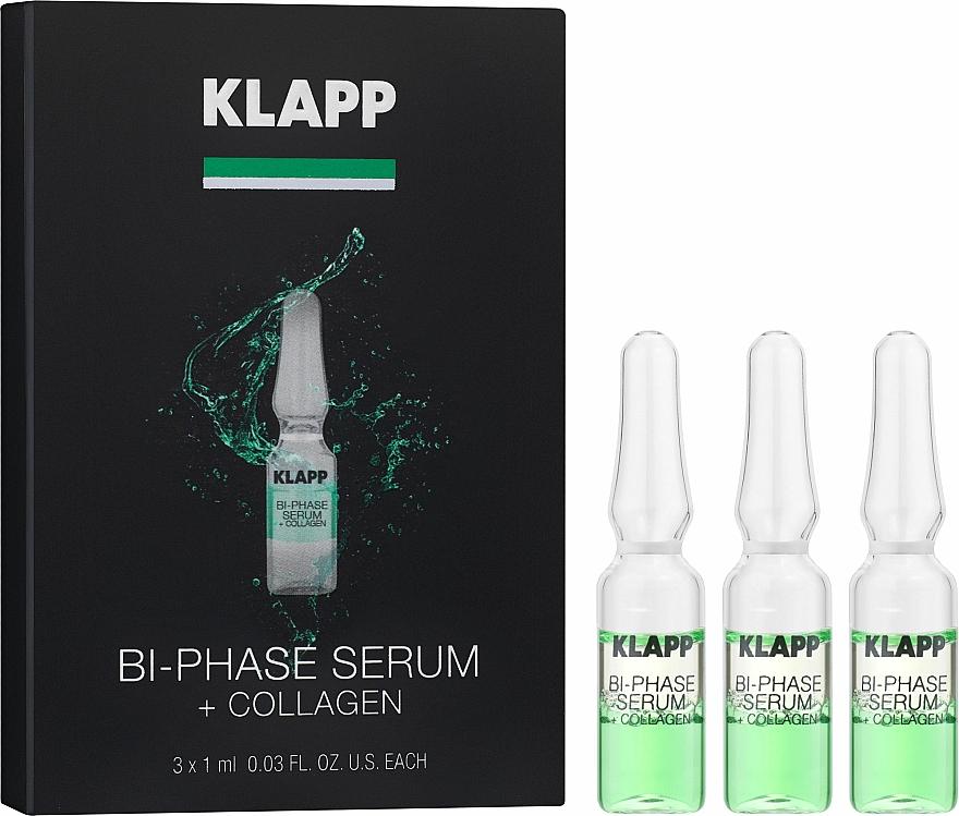 Dwufazowe serum do twarzy z kolagenem - Klapp Bi-Phase Serum + Collagen — фото N1