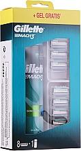 Kup Zestaw - Gillette Mach 3 (8 wymiennych wkładów + gel 200 ml)