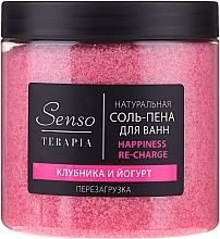 Kup Naturalna musująca sól do kąpieli Truskawka i jogurt - Senso Terapia Happines Re-Charge