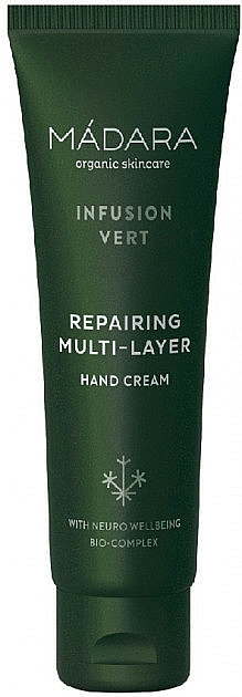 Regenerujący krem ​​do rąk - Madara Cosmetics Infusion Vert Repairing Multi-Layer Hand Cream — фото N1