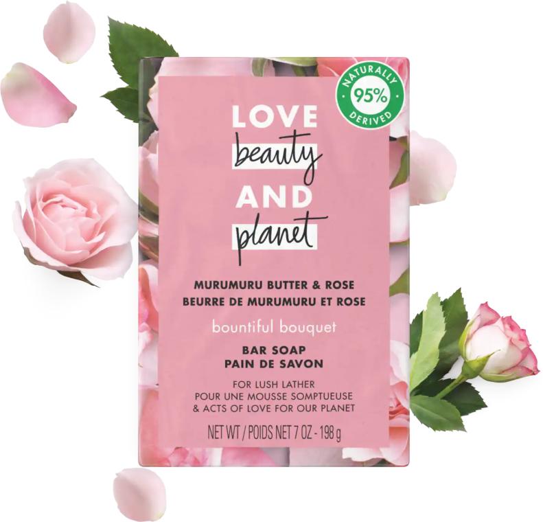 Mydło w kostce Masło muru muru i olejek różany - Love Beauty&Planet Murumuru Nut And Rose Oil — фото N1