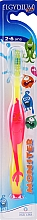 Kup Szczoteczka do zębów dla dzieci 2-6 lat, różowa - Elgydium Kids Monster Toothbrush
