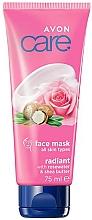 Kup Rozświetlająca maska do twarzy z wodą różaną i masłem shea - Avon Care Radiant With Rosewater And Shea Butter Face Mask