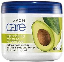 Kup Nawilżający krem do twarzy i ciała z olejem z awokado - Avon Care Replenishing Moisture With Avocado Multipurpose Cream For Face, Hands And Body