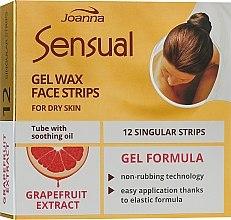 Kup Plastry z woskiem do depilacji twarzy z ekstraktem z grejpfruta - Joanna Sensual Gel Wax Face Strips