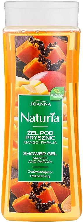 Odświeżający żel pod prysznic Mango i papaja - Joanna Naturia — фото N1