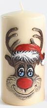 Kup Świeca dekoracyjna Rudolf, kremowa 7 x 18 cm - Artman Christmas Candle Rudolf