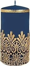 Kup Świeca ozdobna koronkowa, niebieska, 7x14 cm - Artman Lace Christmas