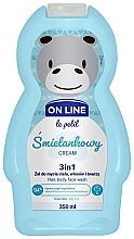 Kup Śmietankowy żel do mycia ciała, włosów i twarzy 3 w 1 - On Line Le Petit Cream 3 In 1 Hair Body Face Wash