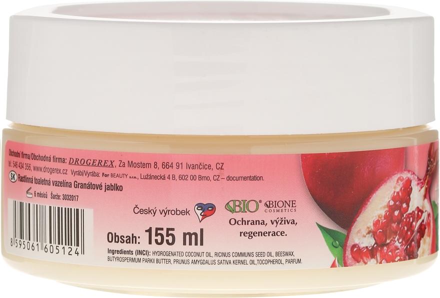 Wazelina kosmetyczna z granatem i antyoksydantami - Bione Cosmetics Pomegranate Plant Vaseline With Antioxidants — фото N3