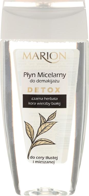 Płyn micelarny do demakijażu Czarna herbata i kora wierzby białej - Marion Detox — фото N1