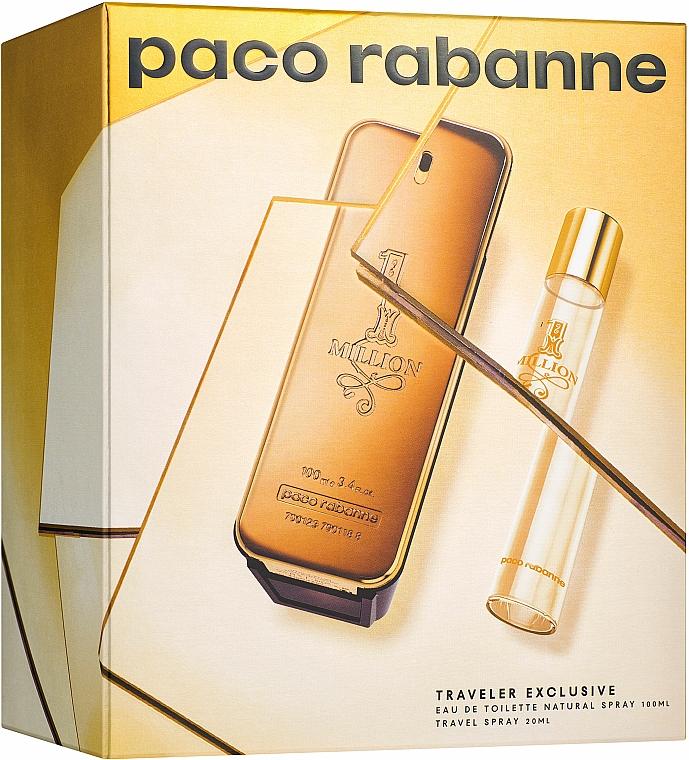 Paco Rabanne 1 Million - Zestaw dla mężczyzn (edt 100 ml + edt 20 ml)