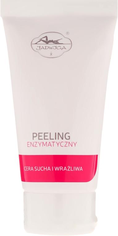 Peeling enzymatyczny z granulkami wosku jojoba do cery suchej i wrażliwej - Jadwiga Seria polska