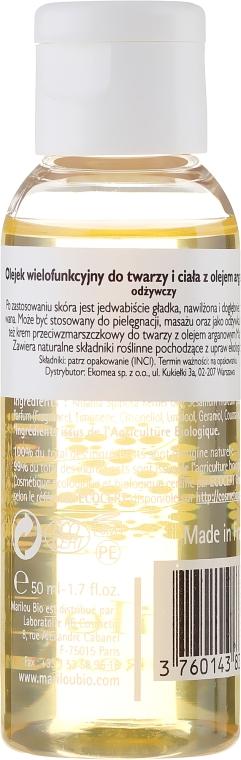 Olejek do twarzy, ciała i włosów z olejem arganowym - Marilou Bio Multipurpose Oil Argan — фото N2