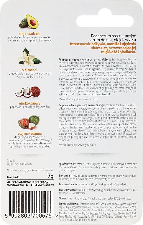 Regenerujące serum do ust Olejek w żelu - Aflofarm Regenerum — фото N2