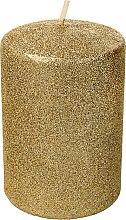 Kup Świeca dekoracyjna, złoty brokat, 7 x 10 cm - Artman Glamour