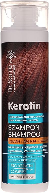 Szampon do włosów matowych i łamliwych - Dr. Santé Keratin Shampoo