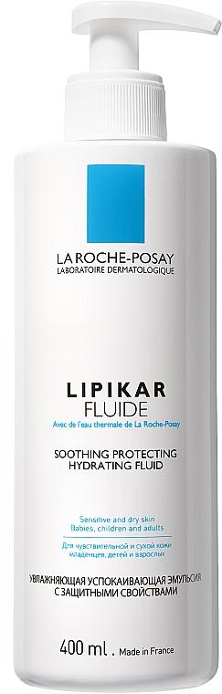 Kojąca i ochronna emulsja nawilżająca do skóry wrażliwej i suchej dla niemowląt, dzieci i dorosłych - La Roche-Posay Lipikar Fluide