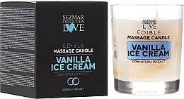 Kup Naturalna świeca do masażu Lody waniliowe - Sezmar Collection Love Edible Massage Candle