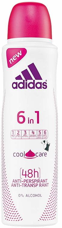 Antyperspirant w sprayu - Adidas Cool & Care 6 in 1