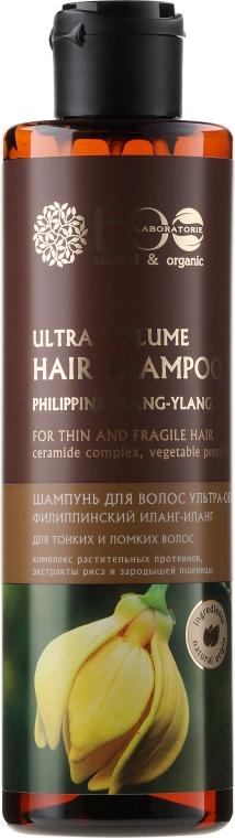 Szampon dodający włosom ultraobjętości Filipiński ylang-ylang - ECO Laboratorie Ultra Volume Hair Shampoo
