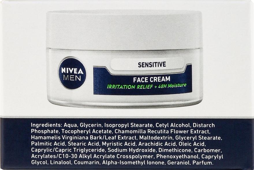 Intensywnie nawilżający krem do twarzy dla mężczyzn Ulga od podrażnień - Nivea Intensively Moisturizing Cream Men Sensitive Skin — фото N3