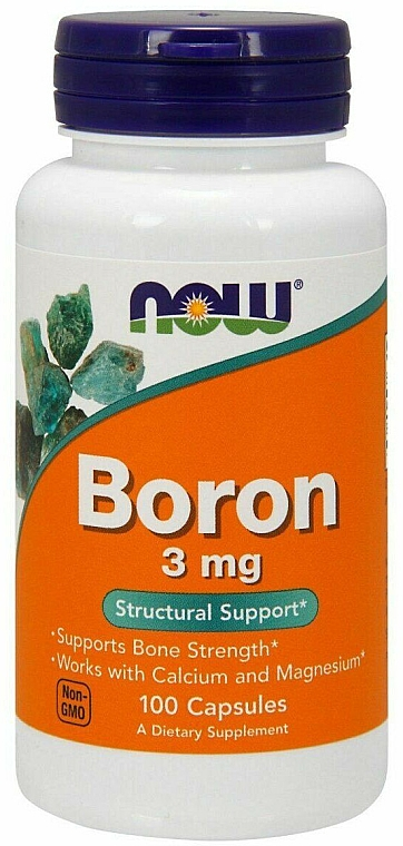 Suplement diety Bor, 3 mg - Now Foods Boron — фото N1