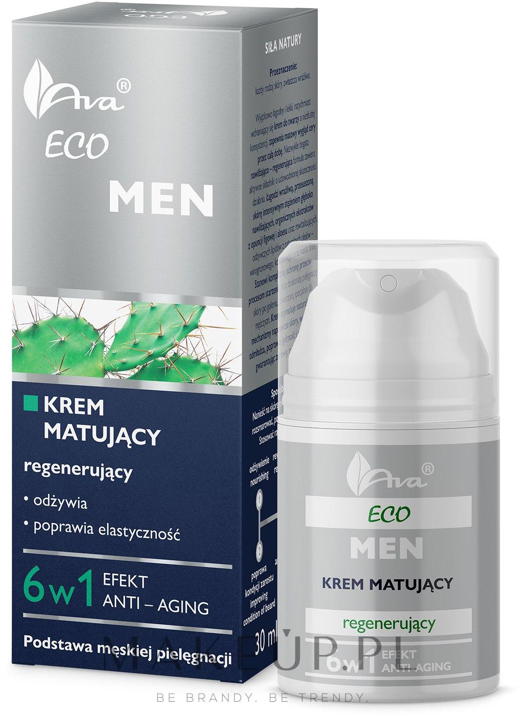 Regenerujący krem matujący dla mężczyzn - Ava Laboratorium Eco Men Cream — фото 50 ml