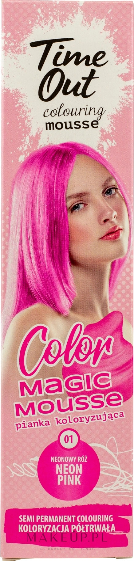 Pianka koloryzująca do włosów - Time Out Color Magic Mousse — фото 01 - Neon Pink