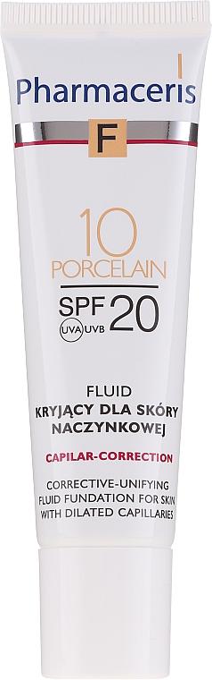 Kryjący fluid do skóry naczynkowej SPF 20 - Pharmaceris F Capilar-Correction