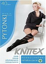 Kup Podkolanówki relaksujące dla kobiet, 40 DEN, light beige - Knittex