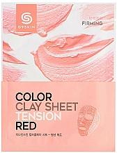 Kup Maska do twarzy w płachcie z glinką - G9Skin Color Clay Sheet Tension Red