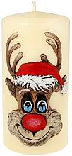 Kup Świeca dekoracyjna Rudolf, kremowa, 7 x 10 cm - Artman Christmas Candle Rudolf