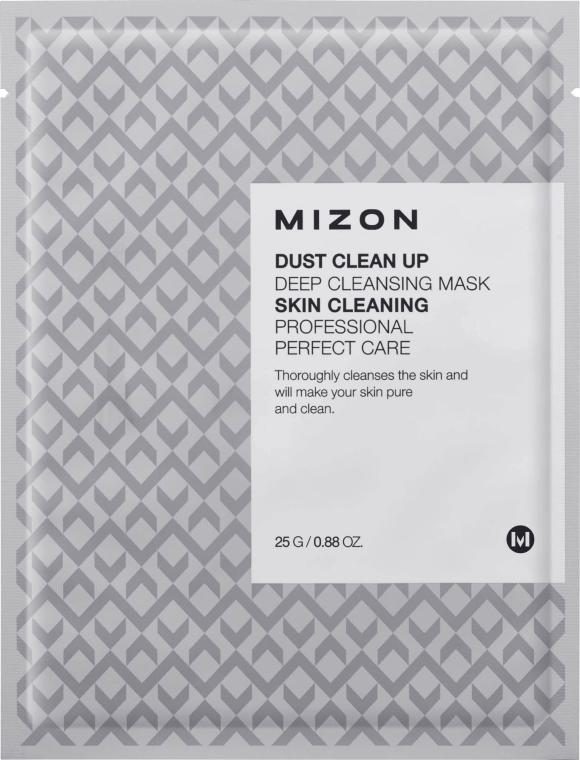 Głęboko oczyszczająca maska na tkaninie do twarzy - Mizon Dust Clean Up Deep Cleansing Mask