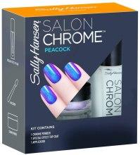 Kup Zestaw - Sally Hansen Salon Chrome Peacock (chrome powder/1g + top coat/5ml + applicator)