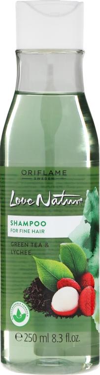Szampon do włosów cienkich Zielona herbata i liczi - Oriflame Love Nature Shampoo — фото N1