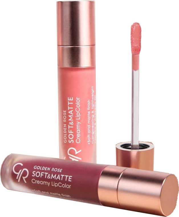 Matowa pomadka w płynie do ust - Golden Rose Soft & Matte Creamy Lip Color
