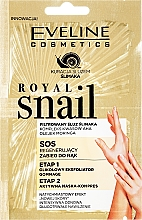 Kup Regenerujący zabieg SOS do rąk: eksfoliator + maska - Eveline Cosmetics Royal Snail Sos Regenerating Hand Treatment