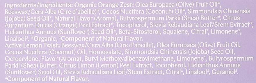 Zestaw balsamów do ust Skórka pomarańczy + Nuta cytryny - EOS Spring Collection (2 x lip balm 7 g) — фото N5