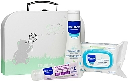 Kup Zestaw - Mustela With Love (wipes/25szt + b/gel/200ml + cr/50ml + bag)
