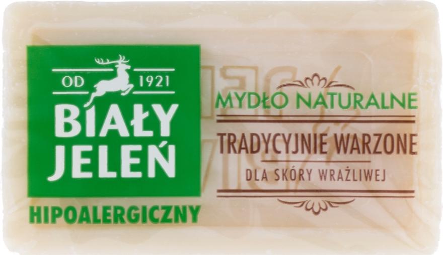Hipoalergiczne naturalne mydło do skóry wrażliwej - Biały Jeleń — фото N1