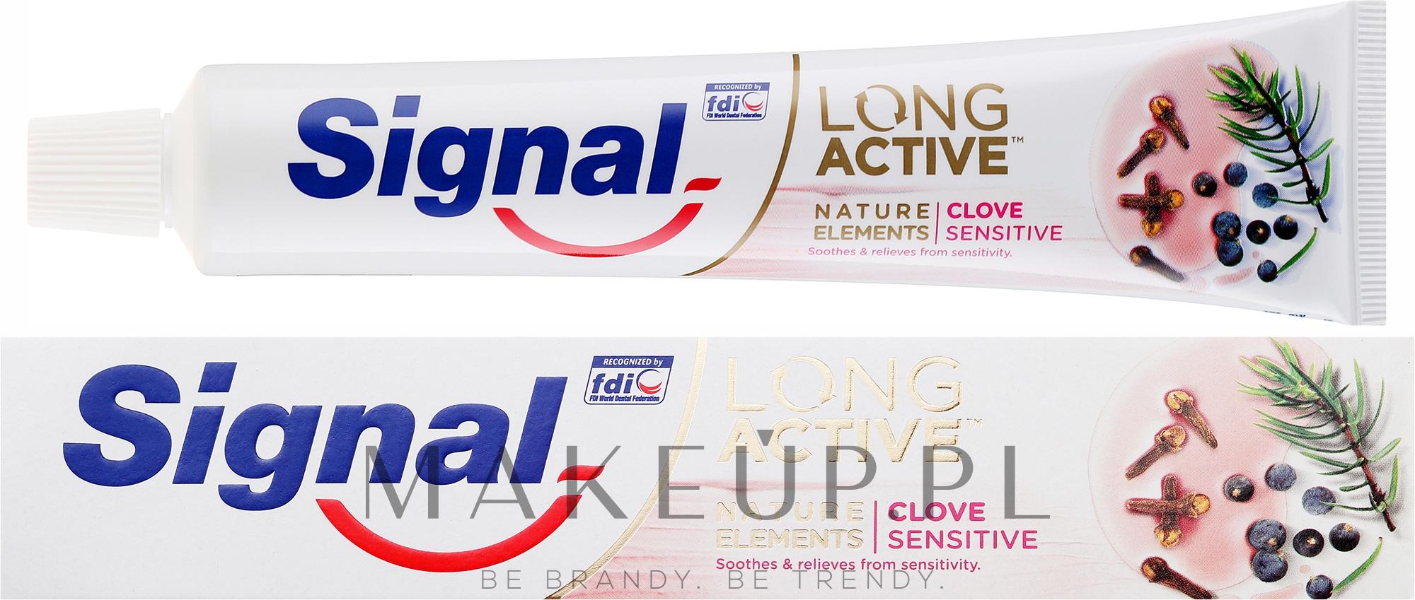 Pasta do zębów - Signal Long Active Nature Elements Clove Sensitive — фото 75 ml
