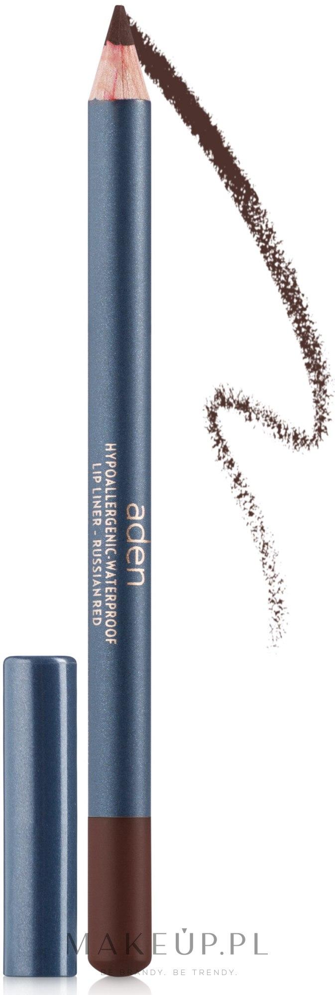 Konturówka do ust - Aden Cosmetics Lip Liner Pencil — фото 31 - Nutmeg
