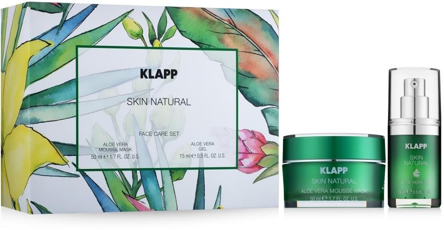 Zestaw - Klapp Skin Natural Face Care Set (mask/50ml + gel/15ml) — фото N1