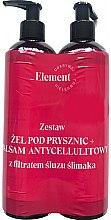 Kup Zestaw przeciw oznakom starzenia z filtratem śluzu ślimaka - _Element (sh/gel 150 ml + b/balm 150 ml)