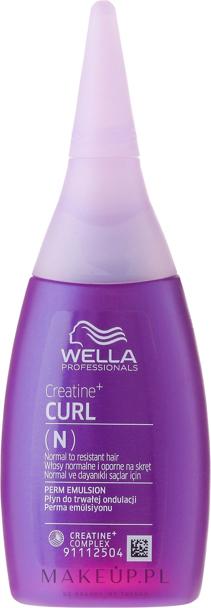 Płyn do trwałej ondulacji do włosów normalnych i opornych na skręt - Wella Professionals Creatine+Curl (N) — фото 75 ml