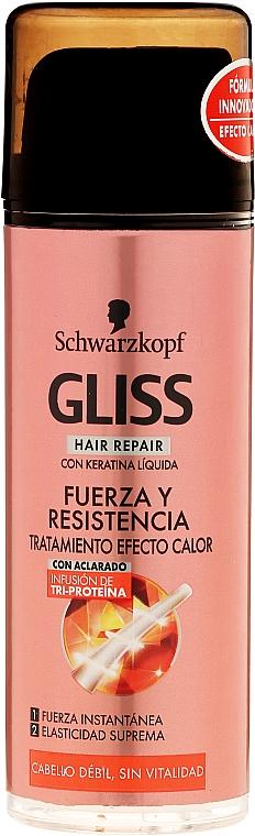 Intensywna kuracja do włosów osłabioych - Schwarzkopf Gliss Kur Restorative Intense Treatment — фото N1