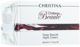 Kup Intensywnie odżywiający krem na noc - Christina Château de Béaute Deep Beaute Night Cream