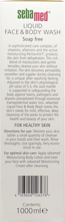 Żel do twarzy i ciała z dozownikiem - Sebamed Liquid Face and Body Wash — фото N6